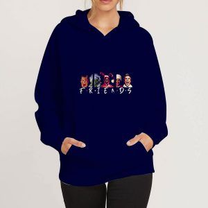 Christmas-Character-Friends-Blue-Navy-Hoodie