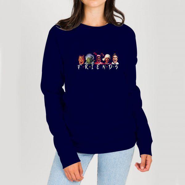 Christmas-Character-Friends-Blue-Navy-Sweatshirt
