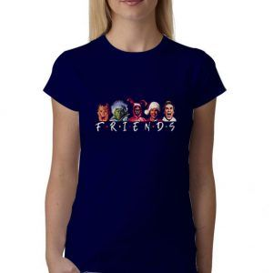 Christmas-Character-Friends-Blue-Navy-T-Shirt