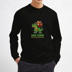 Dino-Trump-Christmast-Sweatshirt