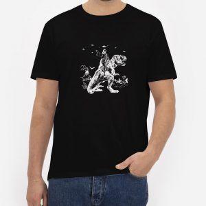 Jesus-Riding-Dinosaur-Black-T-Shirt