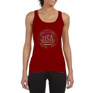 United-States-Of-America-Red-Maroon-Tank-Top