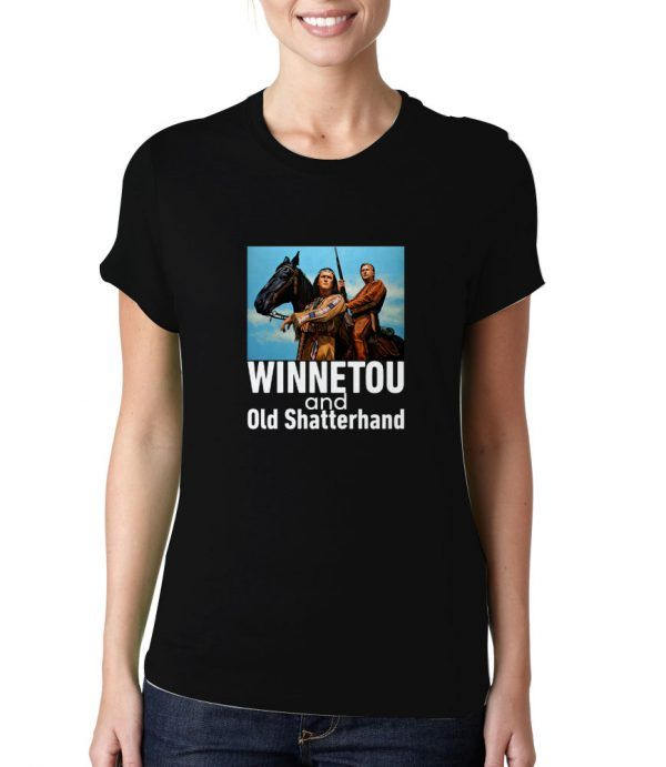 Winnetou-And-Old-Shatterhand-Black-T-Shirt
